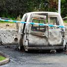 The burnt out getaway van was found nearby