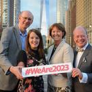 Richard Wakely, Director Belfast International Arts Festival; Councillor Nuala McAllister, Lord Mayor of Belfast; Alison Metcalfe, Head of Tourism Ireland North America and Norman Houston, Director of the Northern Ireland Bureau in Washington in New Yorks lower Manhattan.