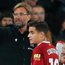 Early exit: Jurgen Klopp took off Coutinho at half-time. Photo: Matthew Lewis/Getty Images