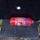 The fire extinguisher used by Poleon and Walsh Credit: PSNI