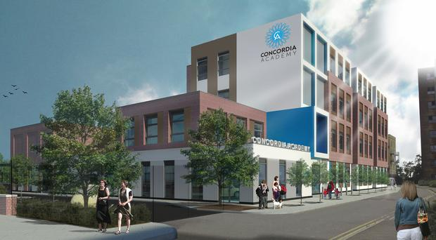 An artist's impression of the new school in Essex