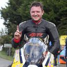 Special moment: Gary Dunlop, son of the late Joey Dunlop, celebrates after winning his first road race recently at Killalaney. Photo: Stephen Davison/Pacemaker