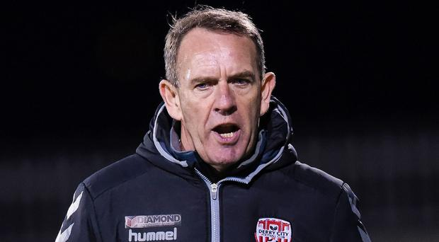 Derry manager Kenny Shiels