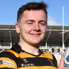 Rising star: Michael Lowry will make his bow in senior rugby. Photo: Darren Kidd/Presseye