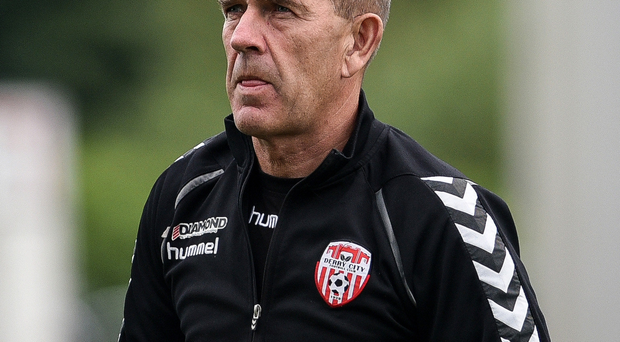 Heavy loss: Derry City's manager Kenny Shiels