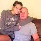 Jordan Humphries with her dad Brian