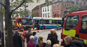 Custom House Square incident on Saturday September 23. Pic: BBC