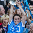 Silver lining: Dublin's Sinead Aherne lifts the Brendan Martin Cup