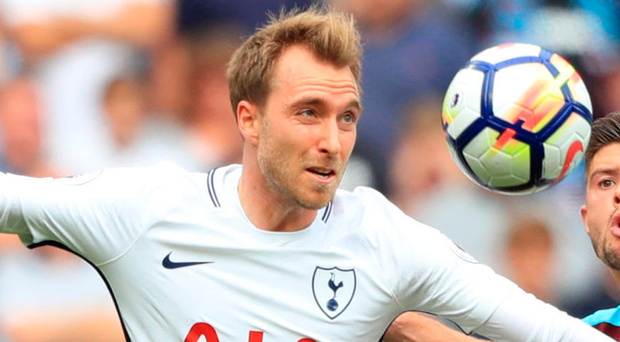 Top notch: Christian Eriksen scored against West Ham