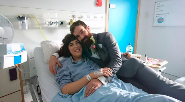 Ciara Keenan and John Cowan in hospital