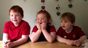 Happy tears: The three siblings broke out in tears of laughter and joy.
