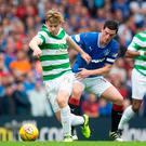 The rivalry was still strong between the Old Firm rivals on Saturday