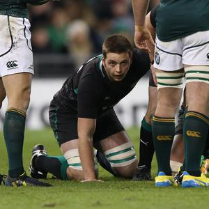 Debut: Iain Henderson faced Marcell Coetzee on his Ireland bow. Photo: Billy Stickland/INPHO
