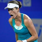 Johnanna Konta crashed out in her opening match at the Dongfeng Motor Wuhan Open in China. Photo: Getty Images