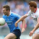 New goal: Peter Harte believes Tyrone can offer a bigger challenge to Dublin and Mayo in 2018. Photo: Gary Carr/INPHO