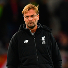 Exasperated: Jurgen Klopp annoyed at missed chances. Photo: Getty Images