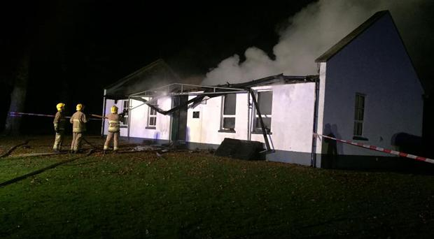The blaze at Strangford Sailing Club