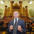 Ready to rumble: Carl Frampton at the Ulster Hall. Photo: Jonathan Porter/Presseye