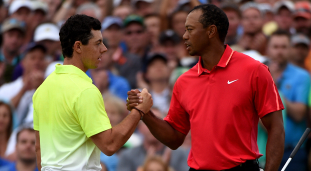 Rory McIlroy has heaped praise on Tiger Woods, whose career could be over. Photo: Ross Kinnaird/Getty Images