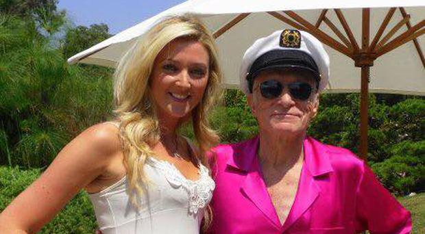 Irish actress Jenny Dixon with the late Hugh Hefner (Jenny Dixon Facebook page)