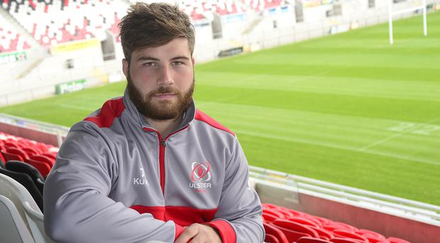 Raring to go: John Andrew at Kingspan Stadium ahead of tomorrow's clash with Zebre in Italy