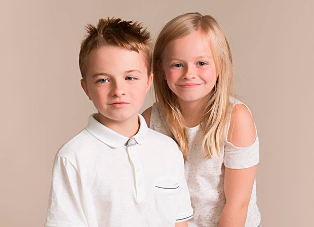 Cameron Truesdale with his sister Chloe