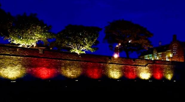 The controversial lighting up of Derry's walls