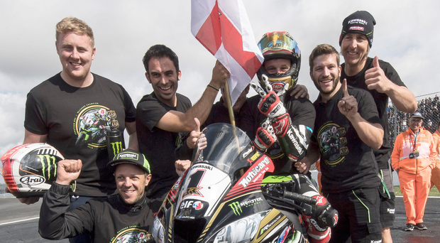 Top of the world: a jubilant Jonathan Rea at Magny-Cours