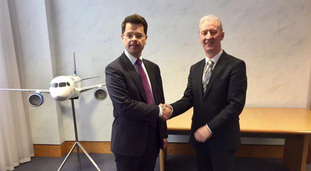James Brokenshire with Michael Ryan of Bombardier