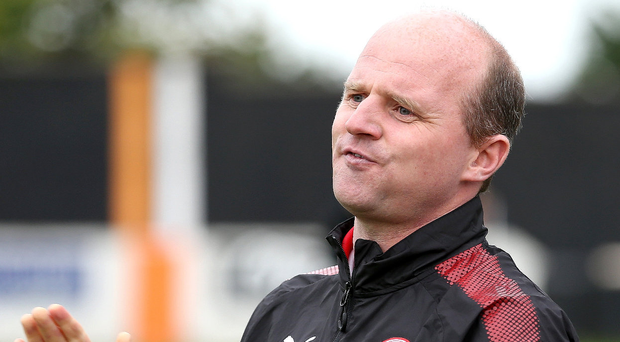 Applause all round: Barry Gray was delighted with Cliftonville's performance in their comeback victory against Linfield