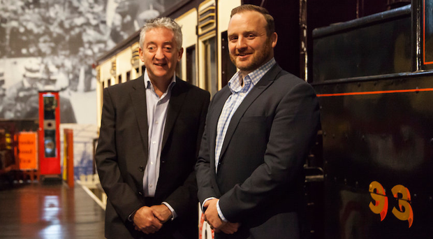 Tourism NI's John McGrillen (left) with Simon Bailie of Digital DNA