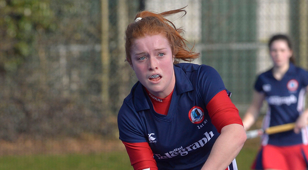 Giving a little back: Zoe Wilson helped win the Belfast Telegraph Schools' Cup at Ballyclare High and now the Irish international is back to help the current crop of pupils flourish