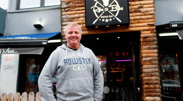 Ribs & Bibs owner Malachy Turner outside his restaurant