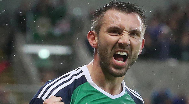 Ready to roar: Gareth McAuley is relishing the World champions' visit