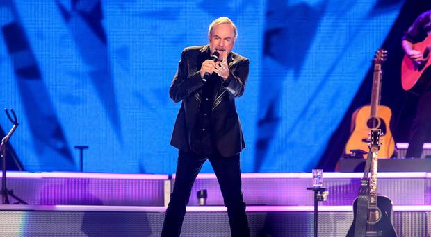 Neil Diamond performing on stage in Belfast in 2015. Picture: Kevin Scott