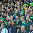 Northern Ireland fans at the National Stadium at Windsor Park. Picture by Jonathan Porter/PressEye.com