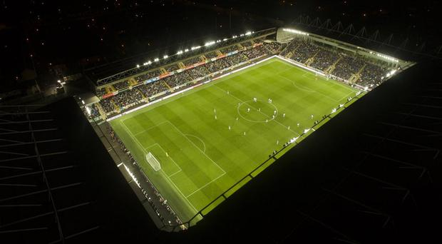 Drone footage of Windsor Park as Northern Ireland hosted Germany in the World Cup qualifier.