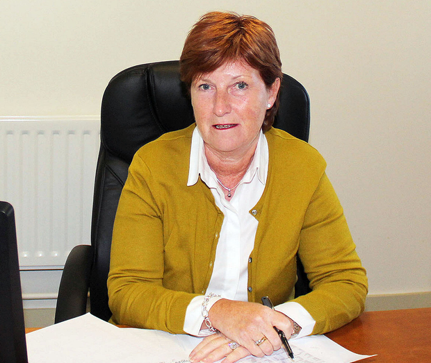 First lady: Wilma Erskine in her office at Royal Portrush Golf Club. Photo: Mark Jamieson