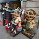 PACEMAKER BELFAST 07/10/2017 Northern Ireland FansDenis and Claire Nightingale pictured in Oslo ahead of N Ireland's World cup qualifier against Norway on Sunday evening. Photo Colm Lenaghan/Pacemaker Press