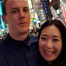 Ciaran Doole and his fiancee Makiko Takeoka in Japan