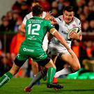 Fine season: Jacob Stockdale, in action against Connacht, has four tries in four games