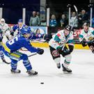 Seb go: Giants' Sebastien Sylvestre breaks away from Coventry's Kevin Noble