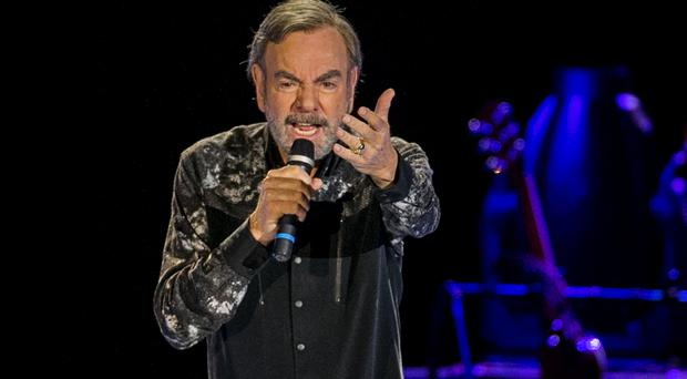 Neil Diamond performing on stage at the SSE Arena during his 50 year anniversary tour. Sunday 8th Oct 2017 Picture by Liam McBurney/RAZORPIX