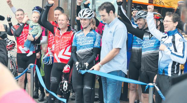 Chris Watson at the opening of Chain Reaction Cycles