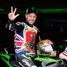 Front runner: Jonathan Rea, celebrating his world title hat-trick, will be the special guest at the Cornmarket Motorbike Awards ceremony