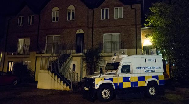 Police at the scene of a murder following the discovery of the body of a woman at a flat in the Larkspur Rise area of West Belfast last week, October 11th 2017 (Photo by Kevin Scott / Belfast Telegraph)