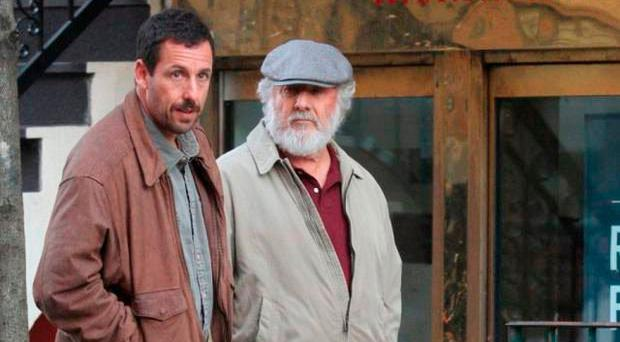 Take two: Dustin Hoffman and Adam Sandler in their new film