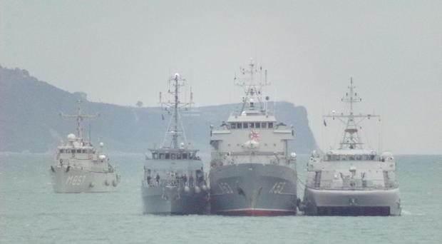 NATO warships arriving into Belfast on Friday morning / Credit: Christine McCullough