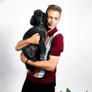 Chris Packham with his dog Scratchy