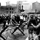 Soldiers in west Belfast in 1969